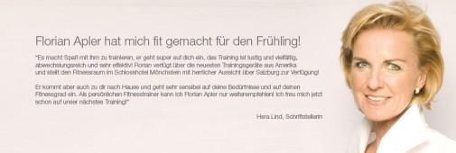 Hera Lind die Personal Fitnesstraining Kundin von Florian Apler in Salzburg.